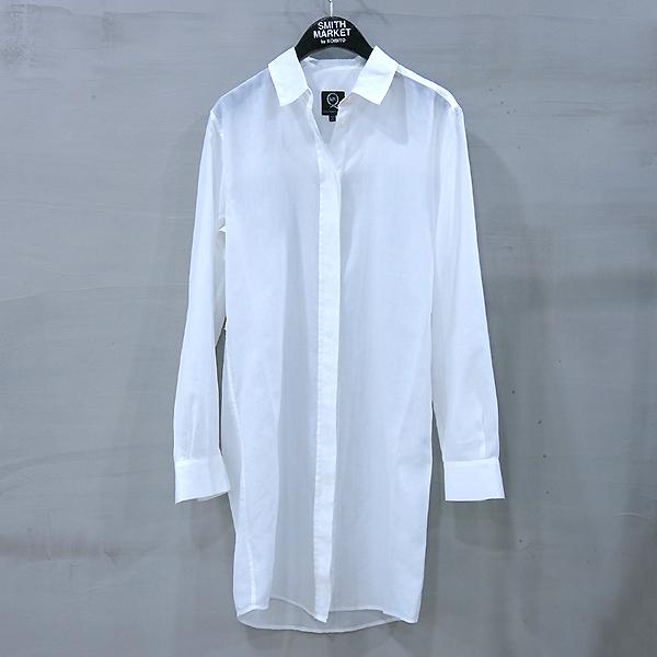 ALEXANDER MCQUEEN (알렉산더 맥퀸) 100% 면 화이트 컬러 여성용 셔츠 원피스 [부산센텀본점]