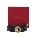 Cartier(까르띠에) 블랙 레더 트리니티 버클 여성용 양면벨트 [대구반월당본점]
