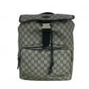 Gucci(구찌) 246103 GG로고 PVC 슈프림 캔버스 네이비 레더 트리밍 원 포켓 백팩 [동대문점]