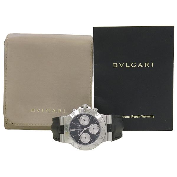 Bvlgari(불가리) CH35S DIAGONO(디아고노) 크로노 오토매틱 남성용 가죽밴드 시계 [강남본점]