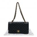 Chanel(샤넬) A01112Y01588 캐비어스킨 블랙 클래식 M사이즈 금장 체인 숄더백 [인천점]