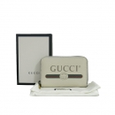 Gucci(구찌) 496319 화이트 레더 빈티지 로고 집업 카드 겸 명함지갑 [동대문점]