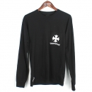 Chrome Hearts(크롬하츠) 408129112 블랙 컬러 면 100% 크로스 프린팅 티셔츠 [강남본점]