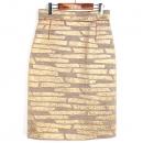 Louis Vuitton(루이비통) 실크 혼방 골드메탈릭 컬러 트위드 여성용 롱 스커트 [강남본점]