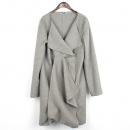 Jilsander(질샌더) 라이트 그레이 컬러 캐시미어 혼방 오픈 여성용 코트 [강남본점]