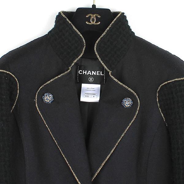 Chanel(샤넬) P51893W05664 100% 울 블랙 어라운드 퀼팅 장식 여성용 코트 [강남본점] 이미지2 - 고이비토 중고명품