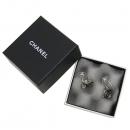 Chanel(샤넬) 블랙 COCO 로고 까멜리아 장식 귀걸이 [강남본점]