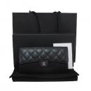 Chanel(샤넬) A80758Y01864 블랙 캐비어스킨 금장 COCO 로고 플랩 장지갑 [대구동성로점]