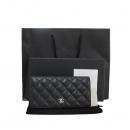 Chanel(샤넬) A31509 블랙 컬러 캐비어 스킨 TIMELESS(타임 리스) CLASSIC(클래식) 은장 로고 장지갑 [대구동성로점]