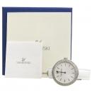 Swarovski(스와로브스키) 5095603 크리스탈 장식 화이트 가죽 밴드 여성용 시계 [강남본점]