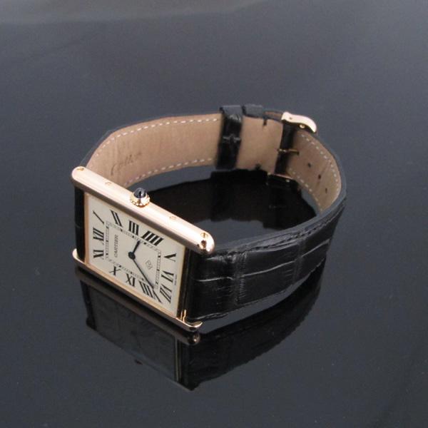Cartier(까르띠에) W1560017 핑크 골드 금통 탱크 루이 XL 사이즈 가죽밴드 남성용 수동식 시계 [대구동성로점] 이미지3 - 고이비토 중고명품