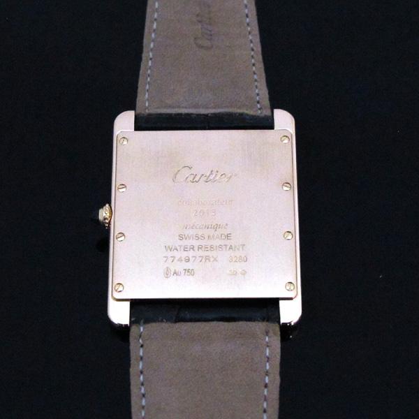 Cartier(까르띠에) W1560017 핑크 골드 금통 탱크 루이 XL 사이즈 가죽밴드 남성용 수동식 시계 [대구동성로점] 이미지5 - 고이비토 중고명품