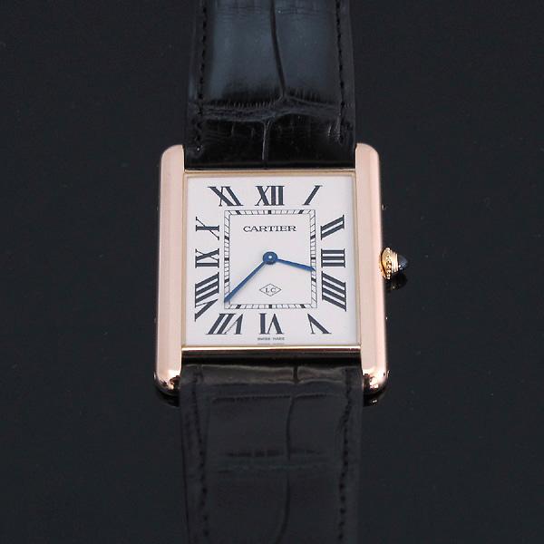 Cartier(까르띠에) W1560017 핑크 골드 금통 탱크 루이 XL 사이즈 가죽밴드 남성용 수동식 시계 [대구동성로점] 이미지2 - 고이비토 중고명품