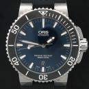 ORIS(오리스) 733 7653 AQUIS(애커스) 오토매틱 시스루백 러버 밴드 남성용 시계 [인천점]