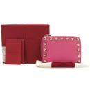 VALENTINO(발렌티노) PW2P0358BOL 스터드 장식 핑크 컬러 중지갑 [강남본점]