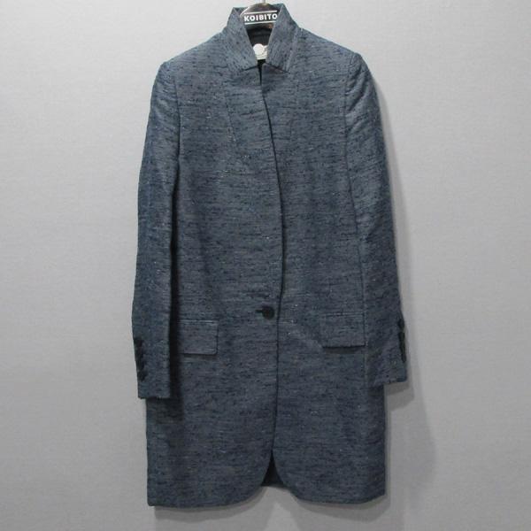 STELLA McCARTNEY (스텔라 메카트니) 블루 컬러 레이온 혼방 여성용 코트 [대구반월당본점]