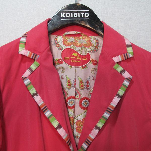 Etro(에트로) 핑크 컬러 여성용 롱 자켓 [대구반월당본점] 이미지3 - 고이비토 중고명품