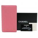 Chanel(샤넬) 핑크 캐비어스킨 은장 COCO 로고 플랩 장지갑 [인천점]