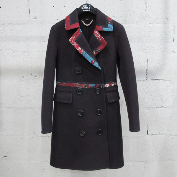 Burberry(버버리) 프로섬 4533048 울 100% 프린팅 카라 장식 여성용 코트 [동대문점]