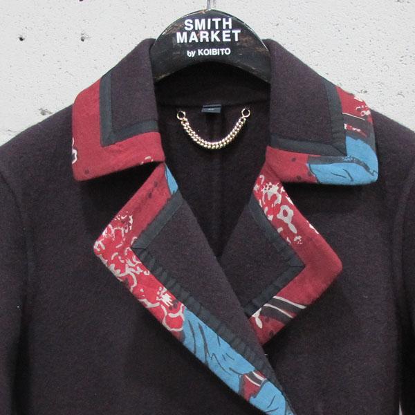 Burberry(버버리) 프로섬 4533048 울 100% 프린팅 카라 장식 여성용 코트 [동대문점] 이미지2 - 고이비토 중고명품