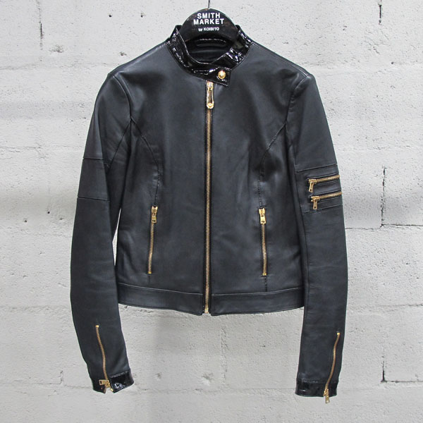 Versace(베르사체) 램스킨 100% 블랙 컬러 금장 여성용 가죽 자켓 [동대문점]