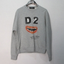 DSQUARED2(디스퀘어드) S72GU0049 그레이 컬러 프린팅 맨투맨 티셔츠 [대구반월당본점]