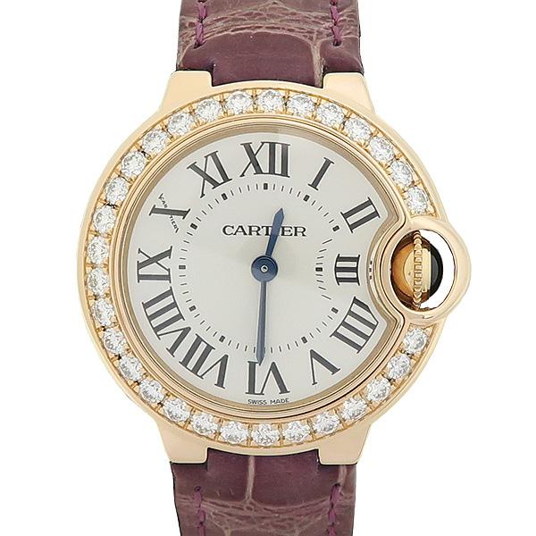 Cartier(까르띠에) 발롱블루 WE900251 18K(750) 핑크 골드 금통 베젤 다이아 28MM 악어가죽 밴드 여성용 시계 [강남본점]