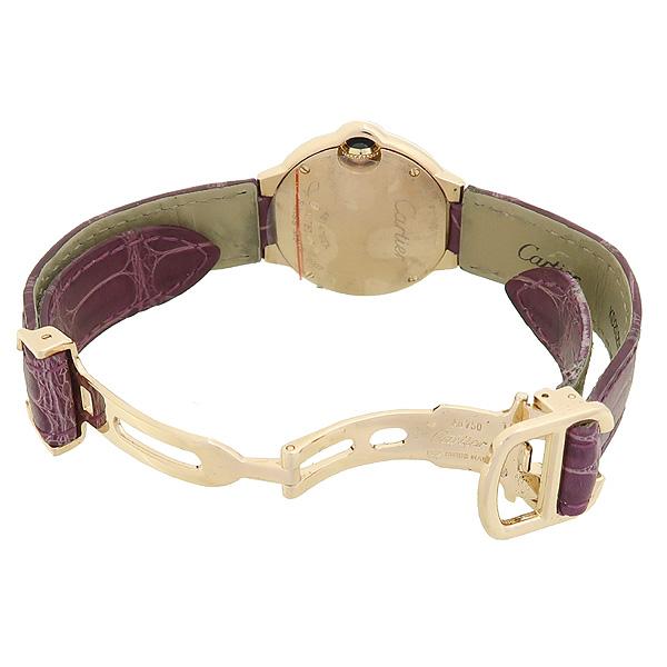 Cartier(까르띠에) 발롱블루 WE900251 18K(750) 핑크 골드 금통 베젤 다이아 28MM 악어가죽 밴드 여성용 시계 [강남본점] 이미지3 - 고이비토 중고명품