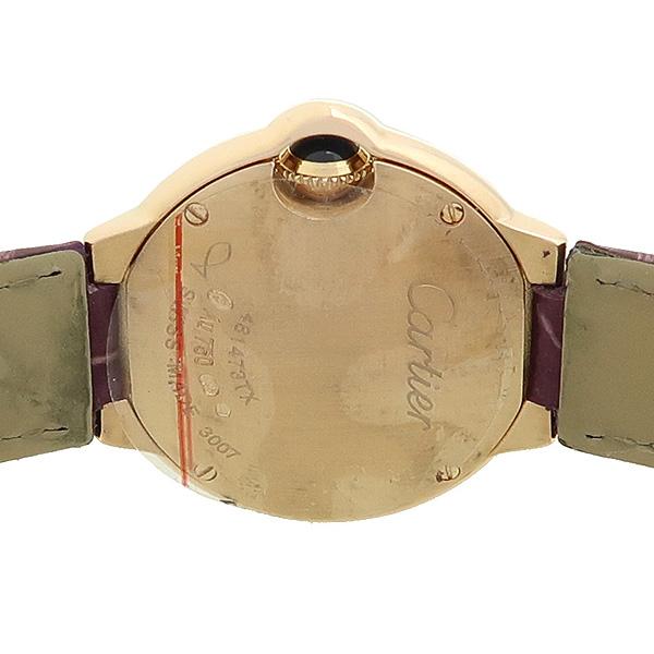 Cartier(까르띠에) 발롱블루 WE900251 18K(750) 핑크 골드 금통 베젤 다이아 28MM 악어가죽 밴드 여성용 시계 [강남본점] 이미지4 - 고이비토 중고명품