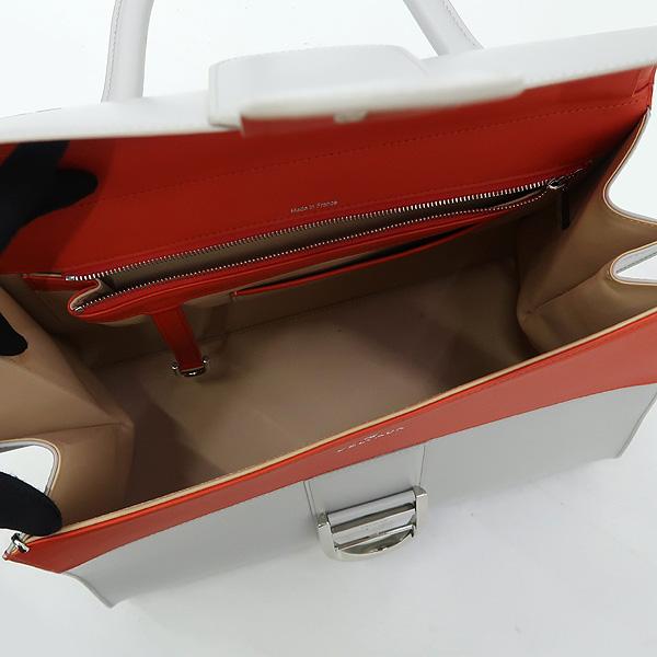 DELVAUX(델보) BRILLANT (브리앙) 투톤  카프 레더 토트백 + 스트랩 2WAY [강남본점] 이미지5 - 고이비토 중고명품