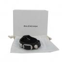 Balenciaga(발렌시아가) 236345 자이언트 은장 장식 블랙 레더 팔찌 [대구반월당본점]