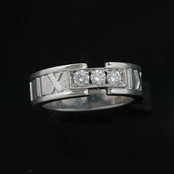 Tiffany(티파니) 티파니 18K(750) 화이트골드 3포인트 다이아 아틀라스 반지 [인천점] 이미지2 - 고이비토 중고명품