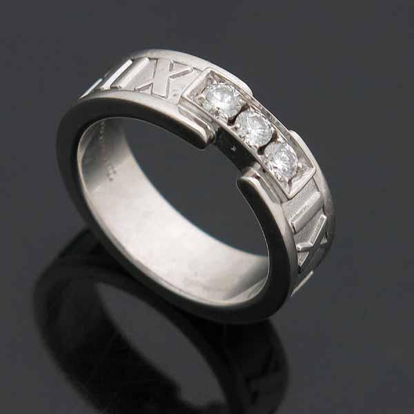 Tiffany(티파니) 티파니 18K(750) 화이트골드 3포인트 다이아 아틀라스 반지 [인천점] 이미지3 - 고이비토 중고명품