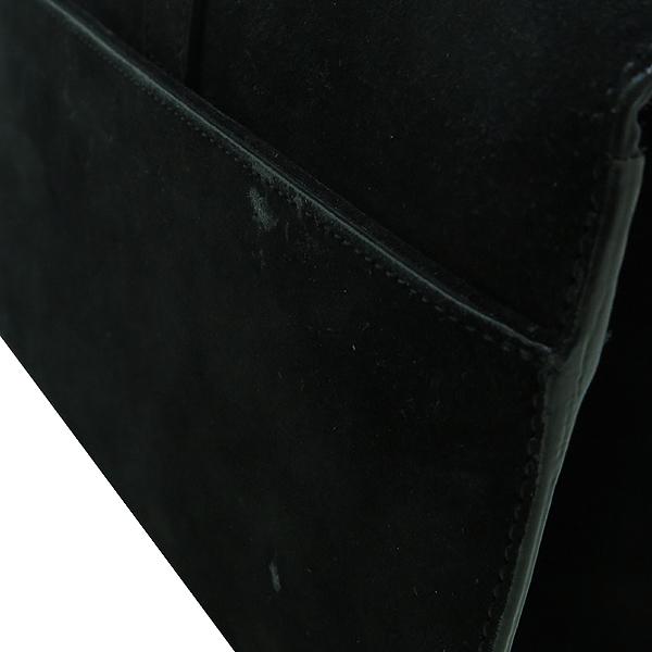 YSL(입생로랑) 381668 블랙 스웨이드 레더 프린지 금장 모노그램 YSL 장식 체인 숄더 겸 크로스백 [인천점] 이미지4 - 고이비토 중고명품