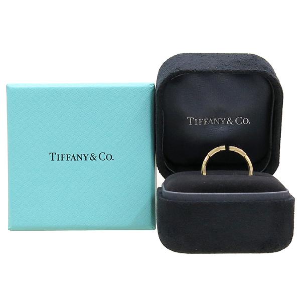 Tiffany(티파니) 18K 핑크 골드 다이아 세팅 T 네로우 반지 [강남본점]