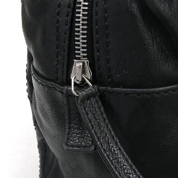 Chanel(샤넬) COCO로고 장식 블랙 레더 스티치 은장 체인 숄더백 [강남본점] 이미지3 - 고이비토 중고명품