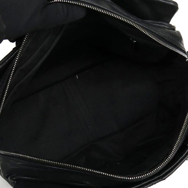 Chanel(샤넬) COCO로고 장식 블랙 레더 스티치 은장 체인 숄더백 [강남본점] 이미지4 - 고이비토 중고명품