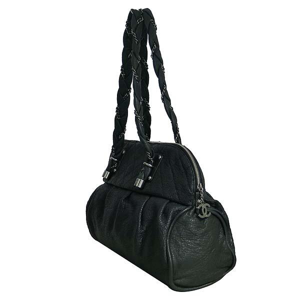 Chanel(샤넬) 블랙 퀄팅 레더 COCO 로고 참 장식 체인 숄더백 [동대문점] 이미지2 - 고이비토 중고명품