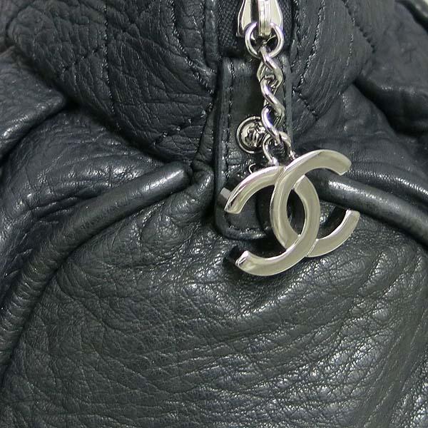 Chanel(샤넬) 블랙 퀄팅 레더 COCO 로고 참 장식 체인 숄더백 [동대문점] 이미지3 - 고이비토 중고명품