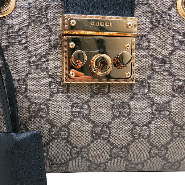 Gucci(구찌) 498156 베이지/에보니 GG 수프림 캔버스 스트럭처드 페들락 숄더백 [인천점] 이미지5 - 고이비토 중고명품