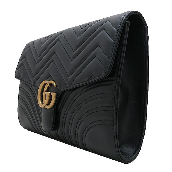 Gucci(구찌) 498079 블랙 레더 마몬트 마틀라세 클러치 [인천점] 이미지3 - 고이비토 중고명품