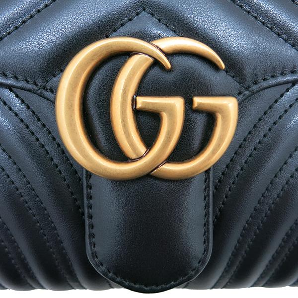 Gucci(구찌) 498079 블랙 레더 마몬트 마틀라세 클러치 [인천점] 이미지5 - 고이비토 중고명품