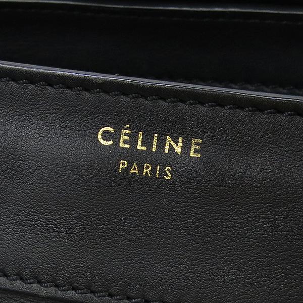 Celine(셀린느) 블랙 컬러 레더 러기지 미니 사이즈 토트백 [강남본점] 이미지4 - 고이비토 중고명품