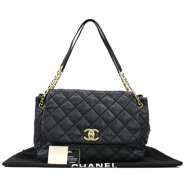 Chanel(샤넬) 캐비어 스킨 블랙 컬러 와일드 스티치 플랩 숄더백 [강남본점]