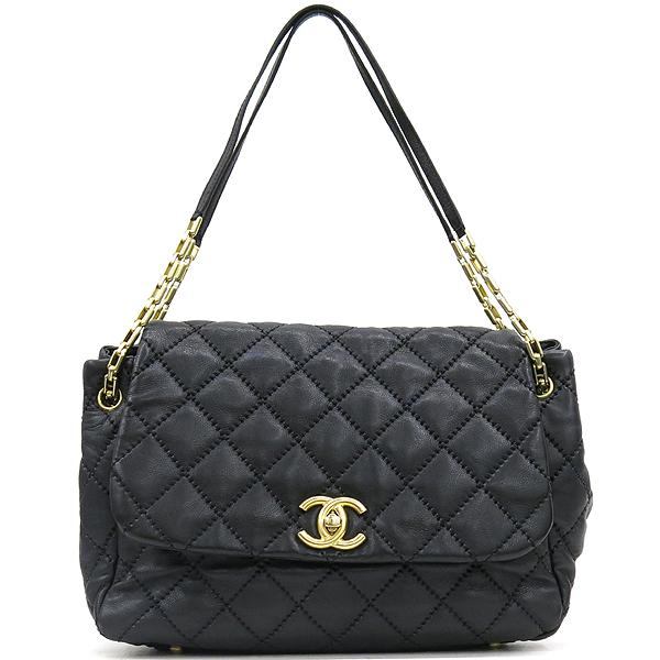 Chanel(샤넬) 캐비어 스킨 블랙 컬러 와일드 스티치 플랩 숄더백 [강남본점] 이미지2 - 고이비토 중고명품