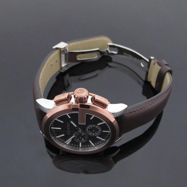 Gucci(구찌) YA101203 101.2 G 크로노 44mm 가죽밴드 남성용 시계 [대구반월당본점] 이미지2 - 고이비토 중고명품