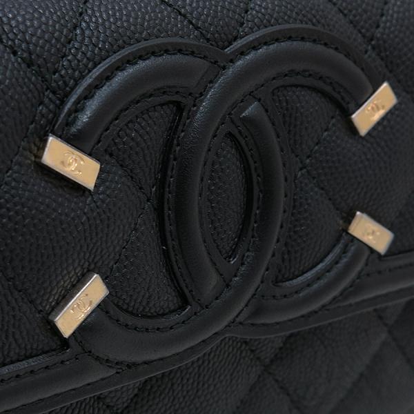 Chanel(샤넬) A84448Y83371 COCO 빈티지 로고 블랙 캐비어 스킨 장지갑 [인천점] 이미지4 - 고이비토 중고명품