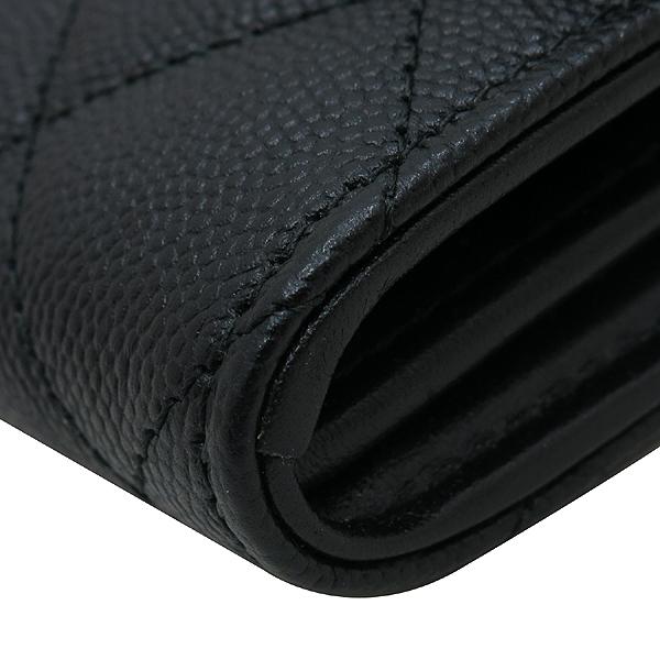 Chanel(샤넬) A84448Y83371 COCO 빈티지 로고 블랙 캐비어 스킨 장지갑 [인천점] 이미지5 - 고이비토 중고명품