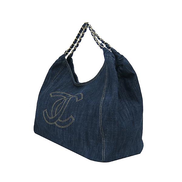 Chanel(샤넬) 크루즈컬렉션 데님 스트리치 스피릿 카바스 금장체인 숄더백 [부산센텀본점] 이미지3 - 고이비토 중고명품
