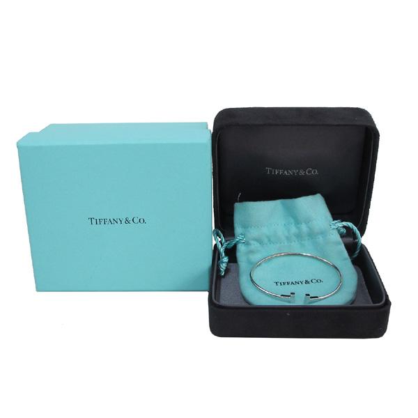 Tiffany(티파니) 18K 화이트 골드 T 네로우 와이어 S사이즈 팔찌 [대구반월당본점]